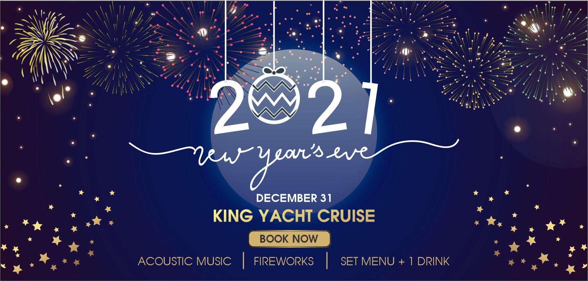 Ngắm pháo hoa đón năm mới 2021 trên Du thuyền