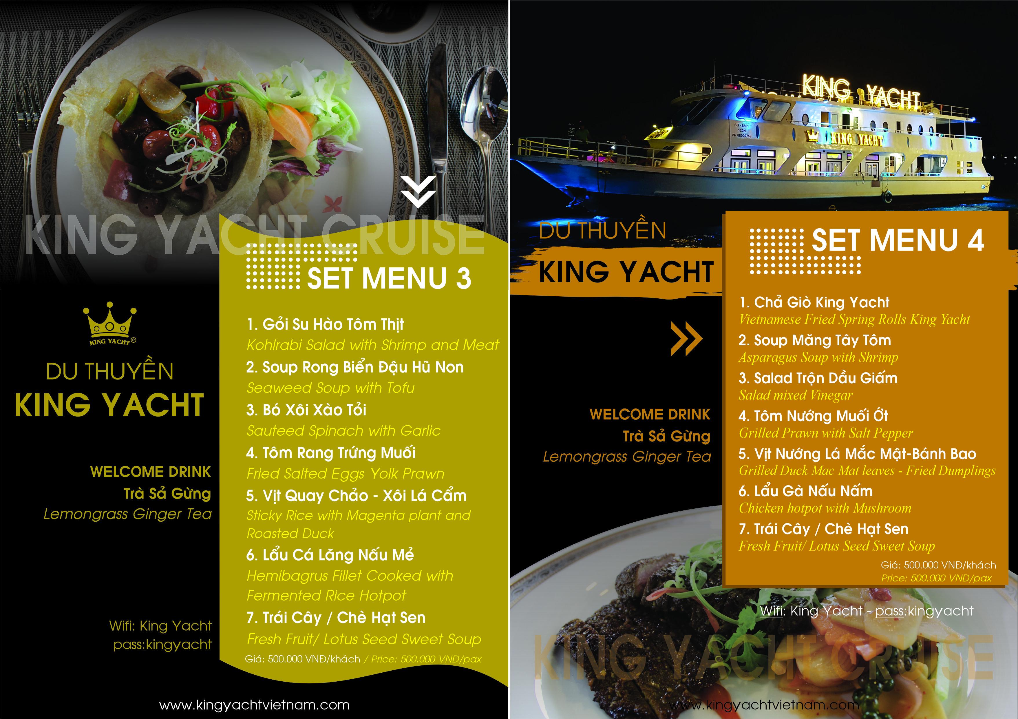 Set Menu 3 - 4 - Du thuyền King Yacht